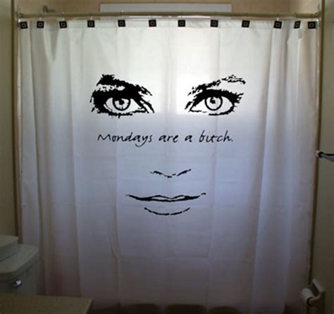 funny shower curtains for men mondays are a bitch funny shower curtain women girl men boy