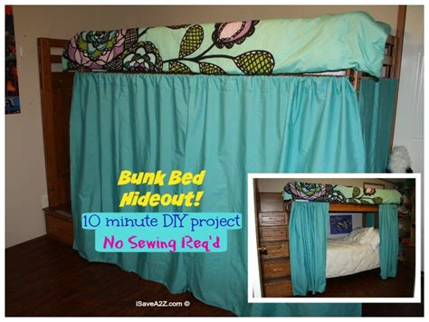 Draping A Tent Bunk Bed Hideout With No Sew Curtains Isavea2z Com