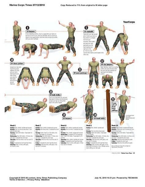morning calisthenics marine corps style the workout