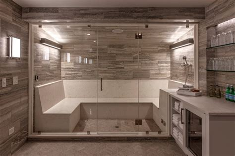 basement steam room steam room and spa contemporary basement