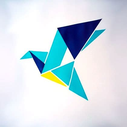 Origami Blue Bird - origami bluebird design