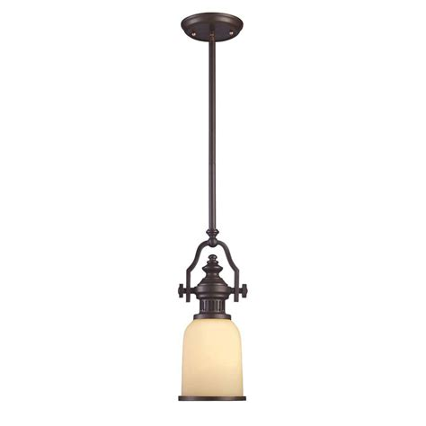 Pendant Light Bronze Titan Lighting Farmhouse 1 Light Bronze Ceiling Mount Pendant Tn 10146 The Home Depot