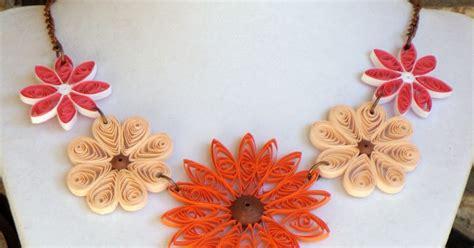 membuat bunga dari kertas quilling cara membuat kalung cantik dari kertas bekas art energic