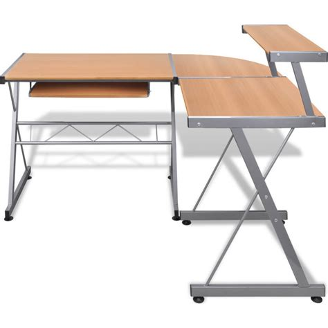 Where To Buy Corner Desk Corner Computer Desk Workstation With Tray In Brown Buy Desks