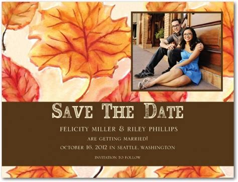 fall wedding invitations and save the dates fall wedding invitation ideas wedding invitation stores