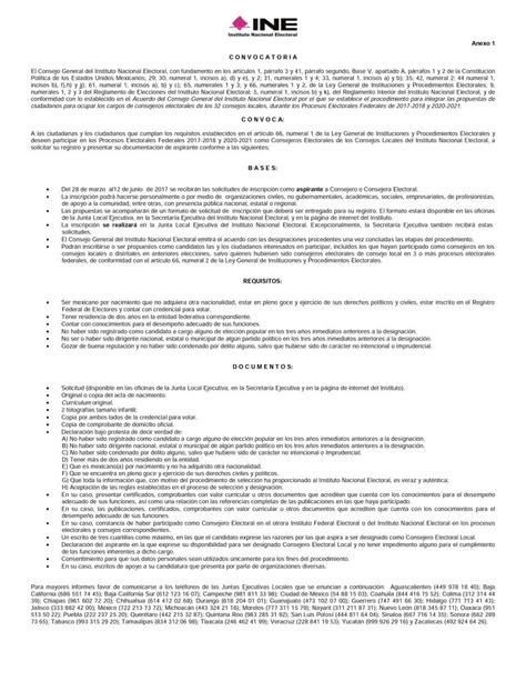 convocatoria para registro y participacion en proceso de abre ine convocatoria para designar consejeras y
