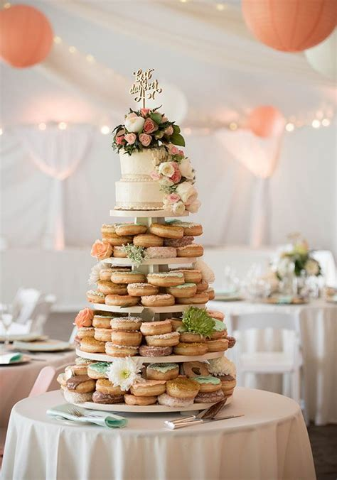 Donut Wedding Cake by David Tutera For Mon Cheri Wedding Donuts