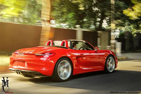 porsche india porsche boxster s 981 in india team bhp