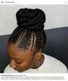 black braids bun hairstyles best 25 cornrow braid styles ideas on pinterest black