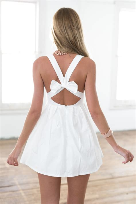 open cross back dress with bow at nygirl sims 187 sims 4 updates white sleeveless mini dress with open cross bow back