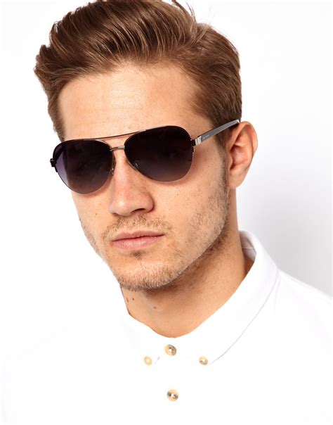 Ted Baker Ted Guys Ite1119 lyst ted baker aviator sunglasses in metallic for