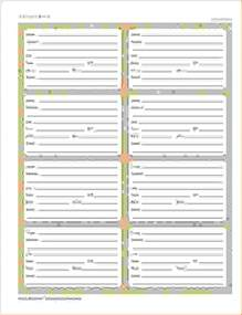 6 printable address book procedure template sample