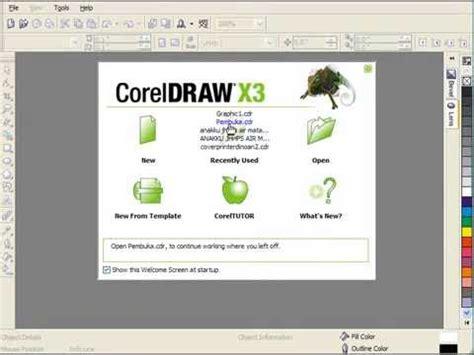 tutorial corel draw desain grafis belajar desain grafis interface corel tutorial pemula