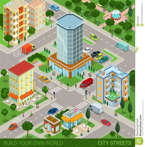 City Blocks isometric city blocks concept stock vector image 59050387