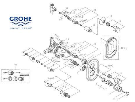 Grohe Shower Replacement Parts by Grohe Shower Spares Grohe Spare Parts National Shower Spares
