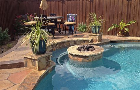 pool fire pit dallas outdoor living gallery frisco outdoor kitchen plano