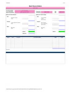 bank reconciliation template bank reconciliation template hashdoc