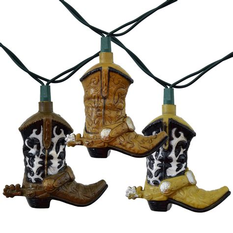 western string lights cowboy boots string lights