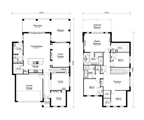 Amazing 4 Bedroom House Designs Perth Double Storey Apg Two Storey House Plan With Dimensions