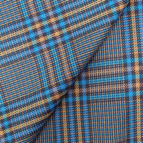 checked pattern en francais prince de galles prince of wales teal blue gold mustard