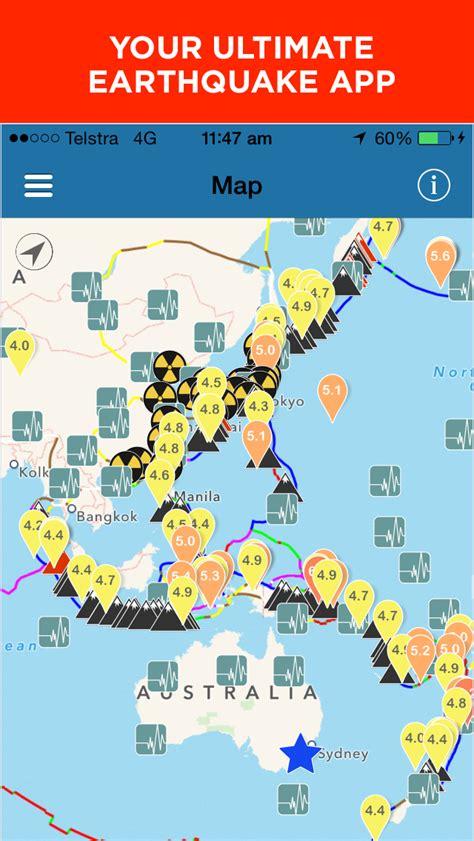earthquake app oz quake earthquake monitoring app mobile app the best
