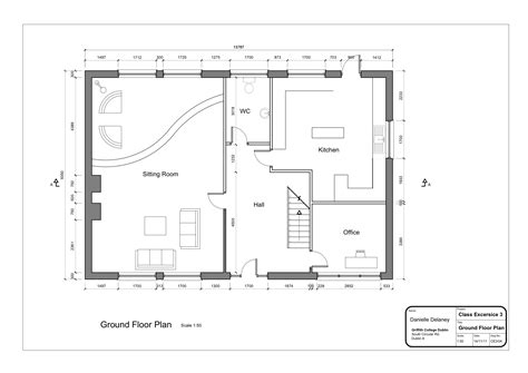 floor plan drafting simple house 2 danielleddesigns