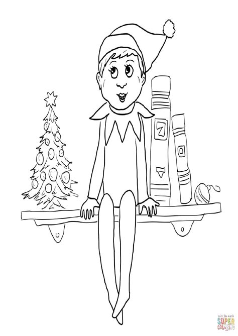 boy elf on the shelf coloring pages to print boy elf on the shelf coloring pages color bros