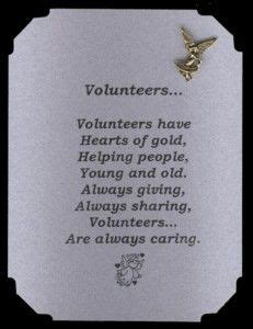 Volunteer Thank You Letter Quotes thank you volunteers poems volunteer appreciation poem