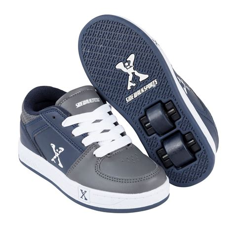 wheeled shoes sidewalk sport childrens boys laces fastened skate