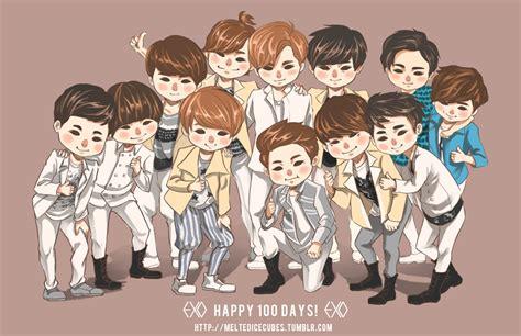 exo wallpaper fanart exo 100 days exo k fan art 31603375 fanpop