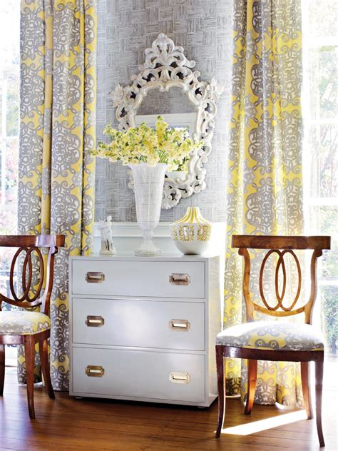 yellow curtains for living room gray and yellow living room curtains hgtv