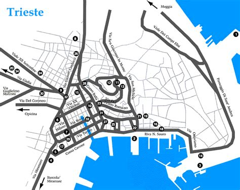 triest map trieste map 1999 perry casta 241 eda map collection ut