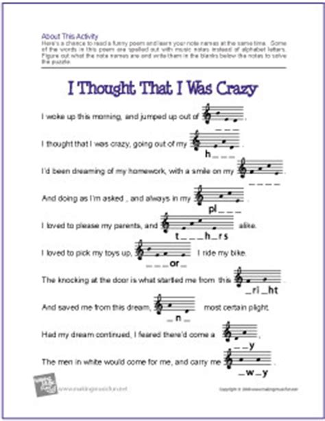 Note Name Worksheet by Theory Worksheets And More Makingmusicfun Net