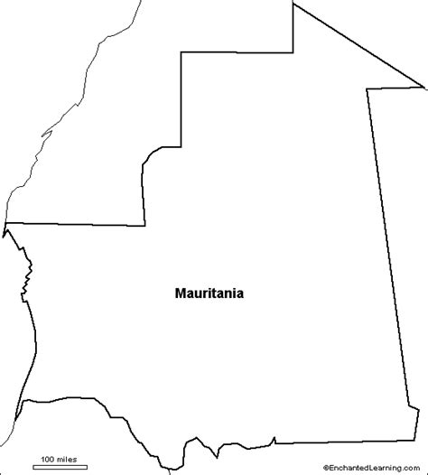 kentucky map enchanted learning outline of mauritania