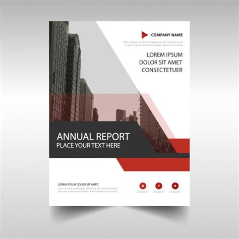 Financial Report Template Editor Abstract Annual Report Template Vector Free