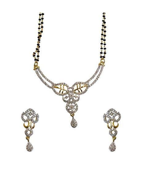 traditional mangalsutra with black sheetal jewellery black traditional festive wear cz