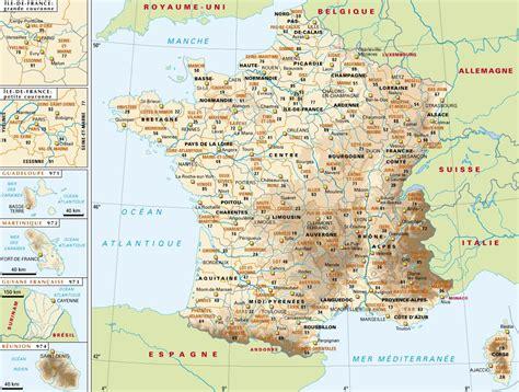 la carte et le 2081365456 carte de france villes images et photos arts et voyages