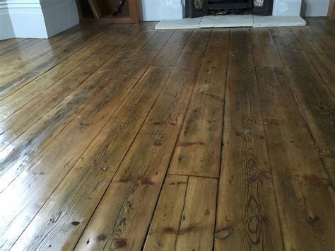 reclaimed pine floorboards in clapham project