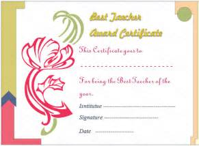 Edd Help Desk Artist Flower Best Teacher Award Certificate Template