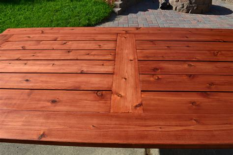 Bryan S Site The Finished Diy Cedar Patio Table Cedar Patio Table