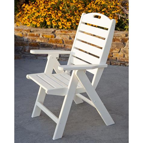 Patio Folding Chairs Plastic by Folding Highback Chair Polywood Patio Dining Chairs
