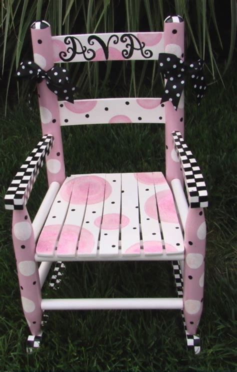 girls rocking chair  painted  art album painted rocking chairs whimsical painted