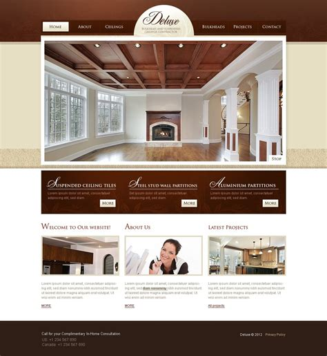Home Interior Websites Home Remodeling Psd Template 37050