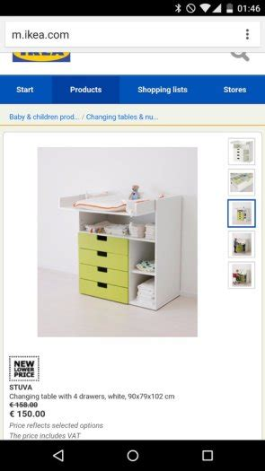 Ikea Changing Table Stuva System For Sale In Terenure Changing Table System