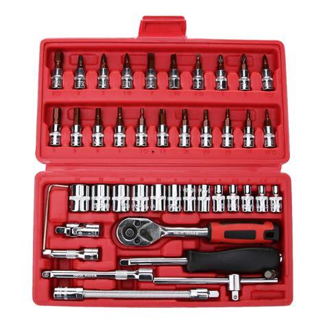 Car Set 6 In 1 Sandaran Jok Set 46pcs set spanner socket set 1 4 car repair tool ratchet