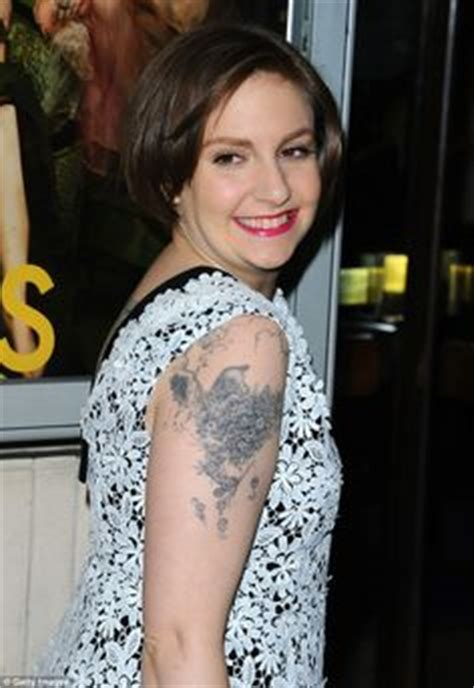 hilary knight tattoo besides ferdinand the bull on arm lena dunham has
