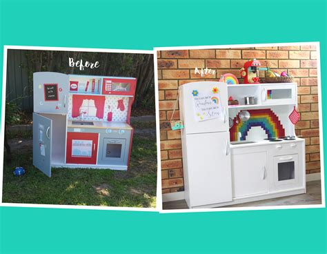 Before and After: A Kmart Wooden Play Kitchen Hack   My Natural Baby