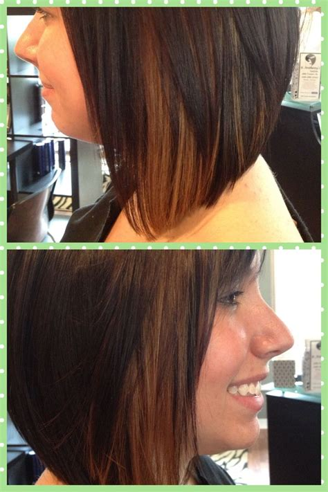 dirty blonde bob hairstyle with peek a boo highlights peek a boo highlights carmel highlights dark brown hair