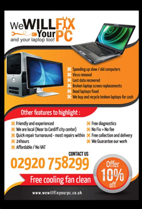 computer repair flyer template free computer repair services flyer flyer design contest