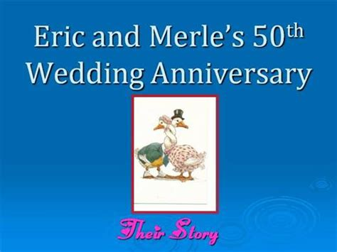 Eric And Merle 50th Wedding Anniversary Authorstream 50th Anniversary Powerpoint Template